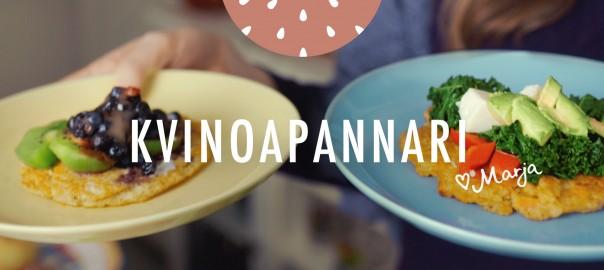 Marja-aika reseptivideo kvinoapannarit